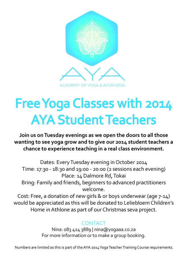 AYA2014freeyogaclass